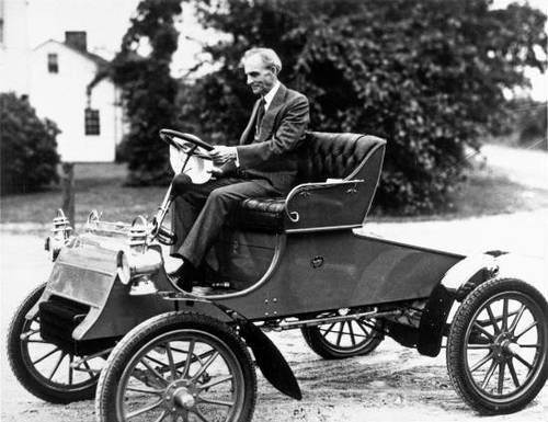 Henry Ford en un Ford A
